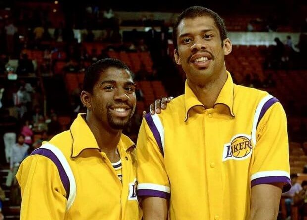 Magic y Kareem Abdul Jabbar