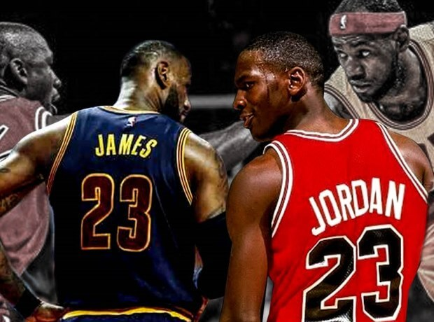 LeBron y Michael Jordan